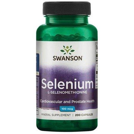 Swanson Selenium L-selenometionina 100 mcg 200 kapsułek
