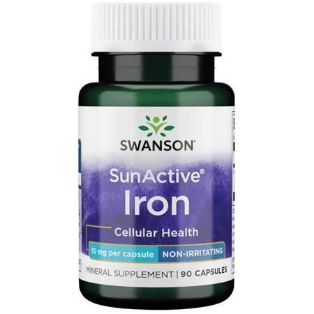 Swanson SunActive Żelazo 15 mg 90 kapsułek