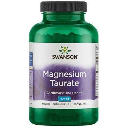 Swanson Taurynian Magnezu 100 mg 120 tabletek