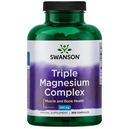 Swanson Triple Magnesium Complex 400 mg 300 kapsułek