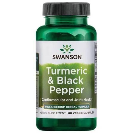 Swanson Turmeric i Czarny Pieprz (Black Pepper) 60 kapsułek
