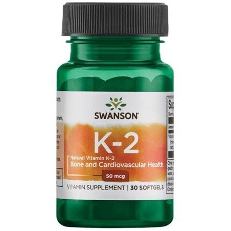 Swanson Witamina K2 MK7 50 mcg 30 kapsułek