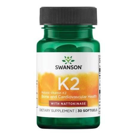 Swanson Witamina K2 + Nattokinaza 30 kapsułek